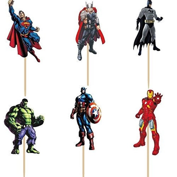 Cupcake Toppers 24pc - Avengers
