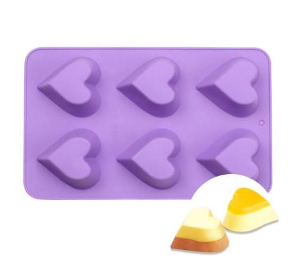 Dessert Silicone Mold - HEART 6 CAVITY