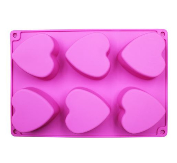 Chocolate Dessert Mold - HEARTS 6PC
