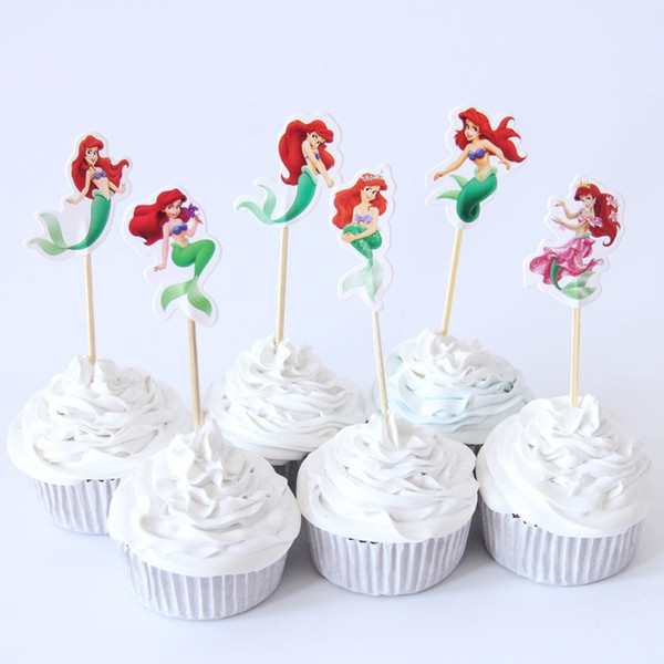 Cupcake Toppers 24pc - Little Mermaid
