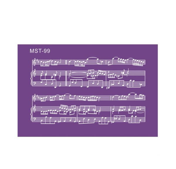 Mesh Cake Stencil - Musical Notes