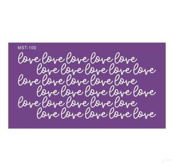 Mesh Cake Stencil - Love Love Love