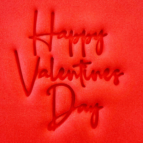 Cookie Embosser - Happy Valentines Day