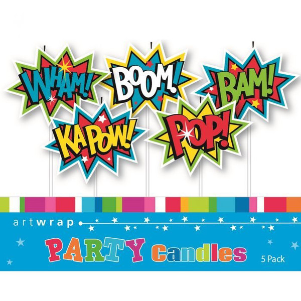 Candle Set 5pc - KAPOW WHAM BAM