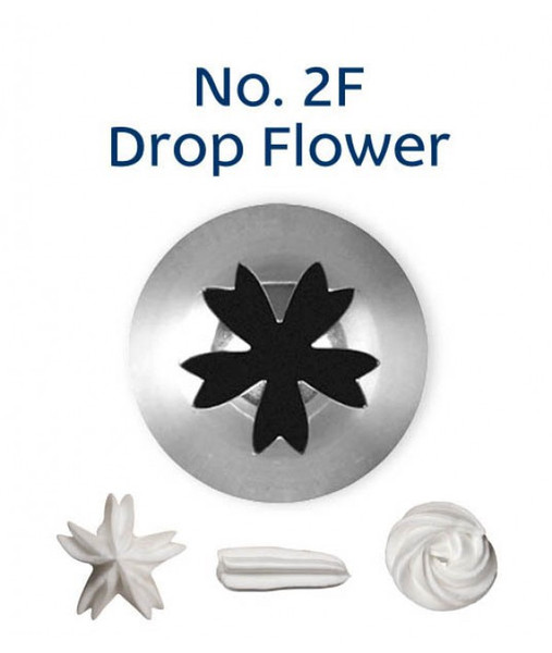 Piping Tip Closed Star (Drop Flower) No.2F