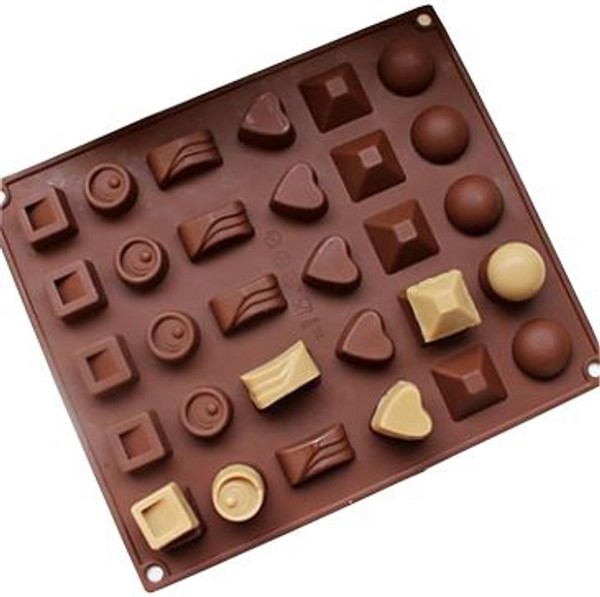 Chocolate Mold 30 pc- ASSORTED SHAPES