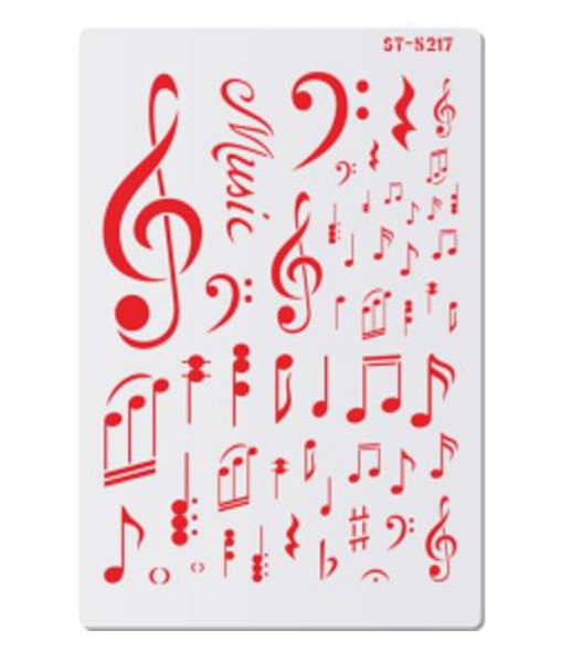 Cake Stencil - Assorted Musical Notes