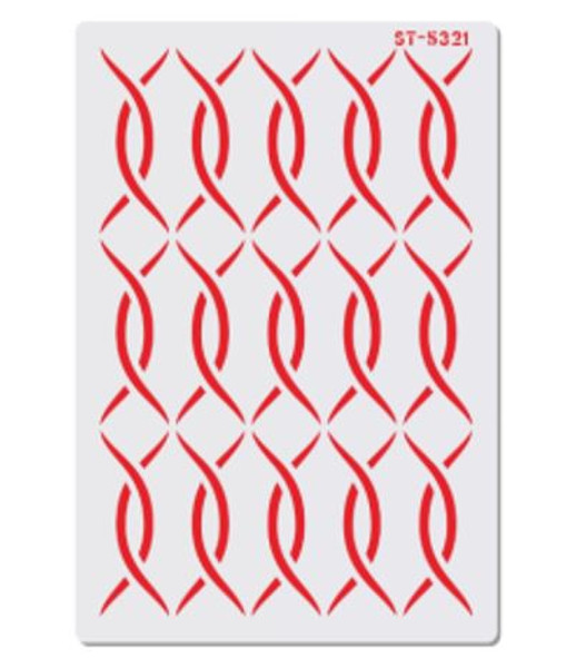 Cake Stencil -  Interwoven Thread
