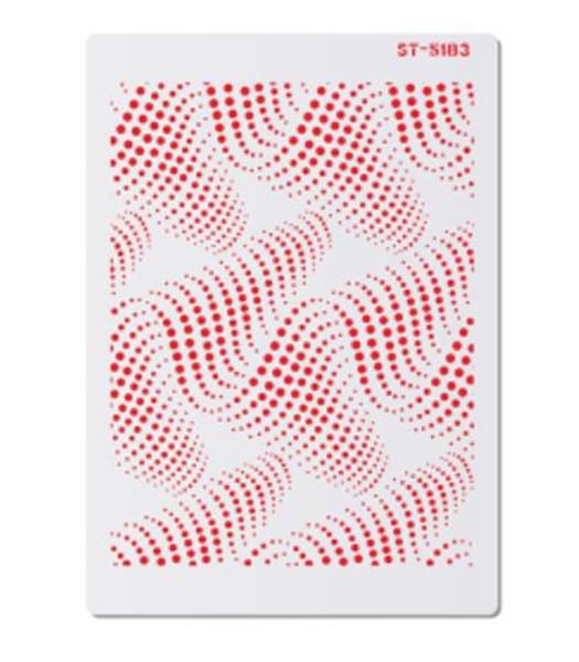 Cake Stencil - Flowing Sound Waves