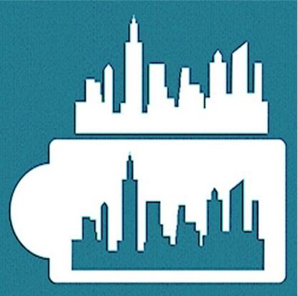Cake Stencil - City Skyline