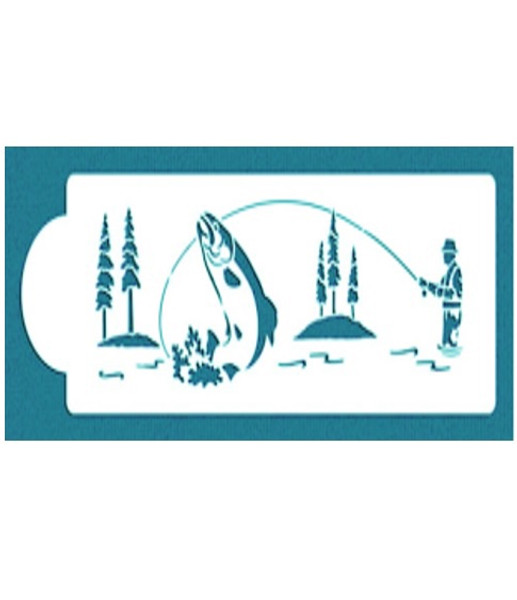 Cake Stencil - Fly Fishing