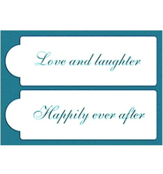 Cake Stencil - Love & Happiness Quotes 2pc