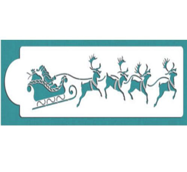Cake Stencil - Santa's Sleigh & Reindeer