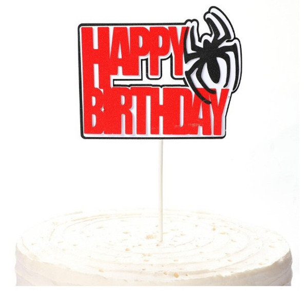 Cake Topper - Spider Man 'Happy Birthday'