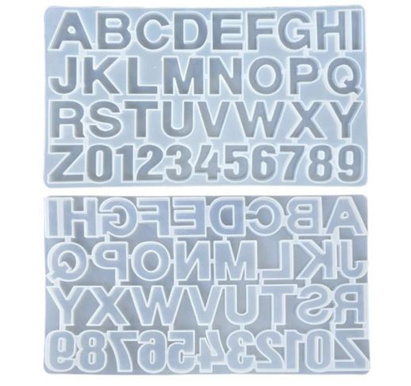 Silicone Mold - ALPHABET UPPERCASE & NUMBERS