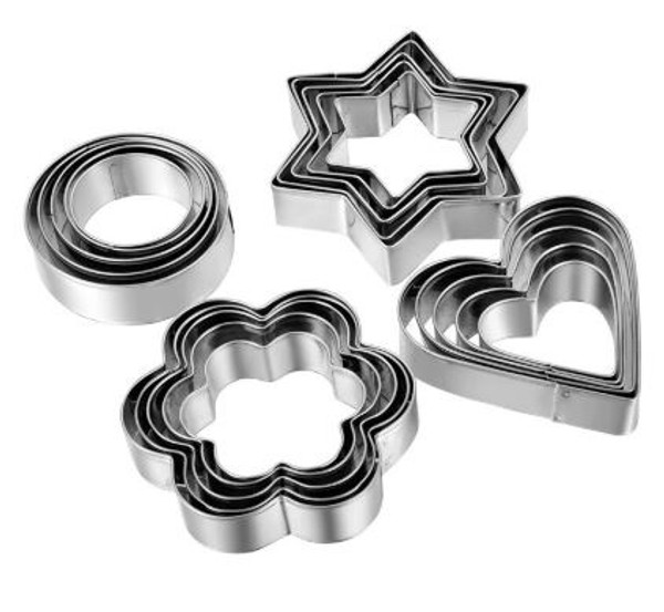 Cookie Cutter Set 12pc - PRIMARY SHAPES