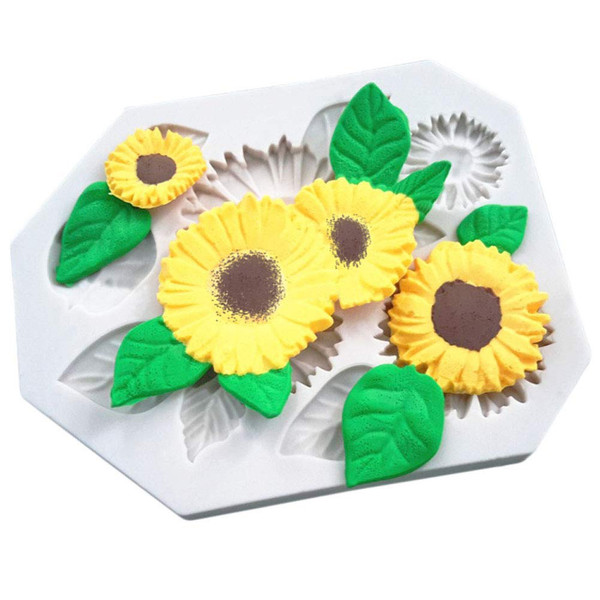Silicone Mold - Assorted Sunflowers