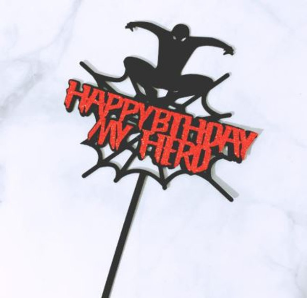 Acrylic Cake Topper - Spider Man
