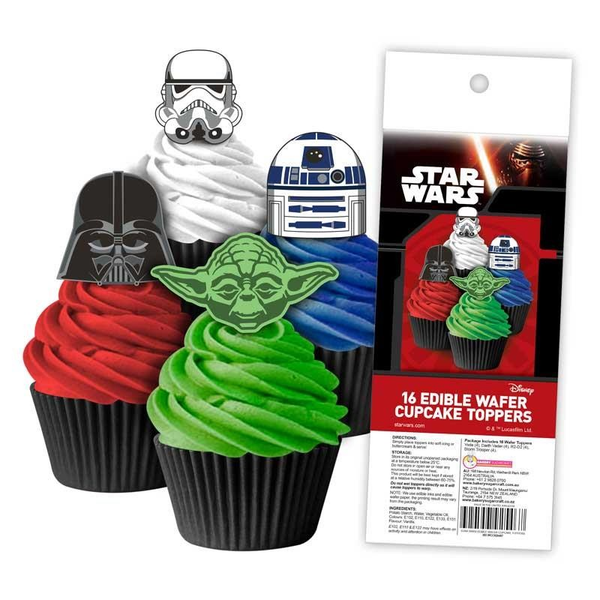 Edible Wafer Toppers - STAR WARS 16PC