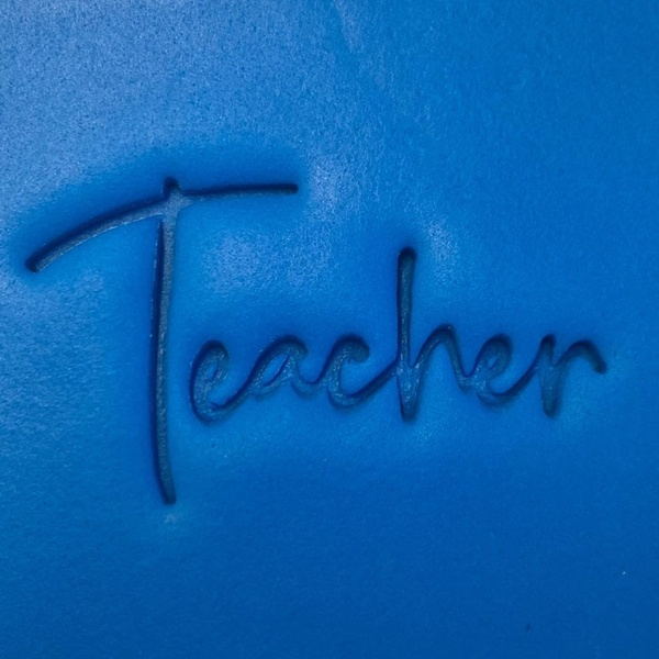 Cookie Embosser - TEACHER 2PC SET