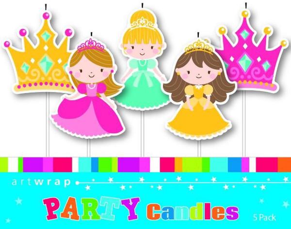Birthday Candle - PRINCESSES 5PC SET