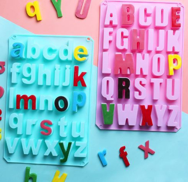 Alphabet Silicone Mold Uppercase & Lowercase Set - Large
