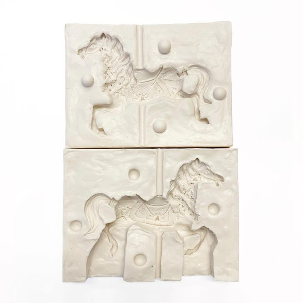 Silicone Mold - LARGE 3D CAROUSEL HORSE