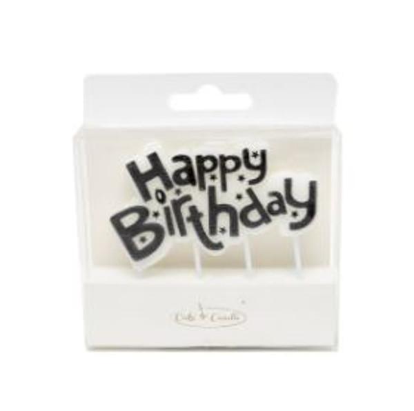 Party Candle - HAPPY BIRTHDAY PLAQUE BLACK