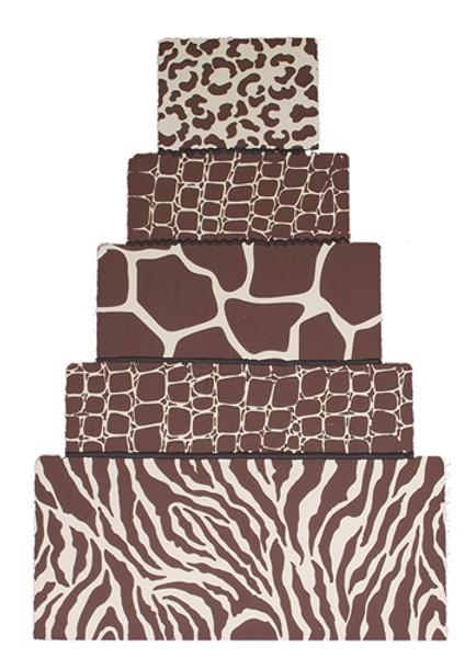 Designer Stencil Leopard Skin C455