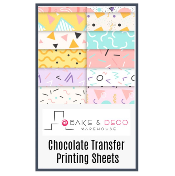 BLANK Chocolate Transfer Sheets 50 pack