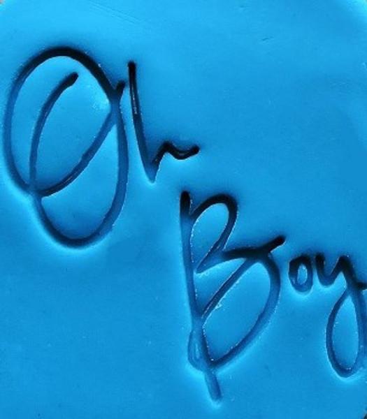 Cookie Embosser - 'Oh Boy'
