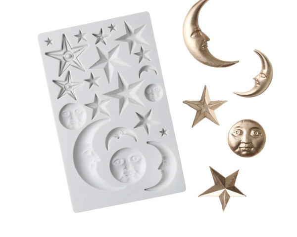 Bed-Time Stars& Moon Silicon Mold