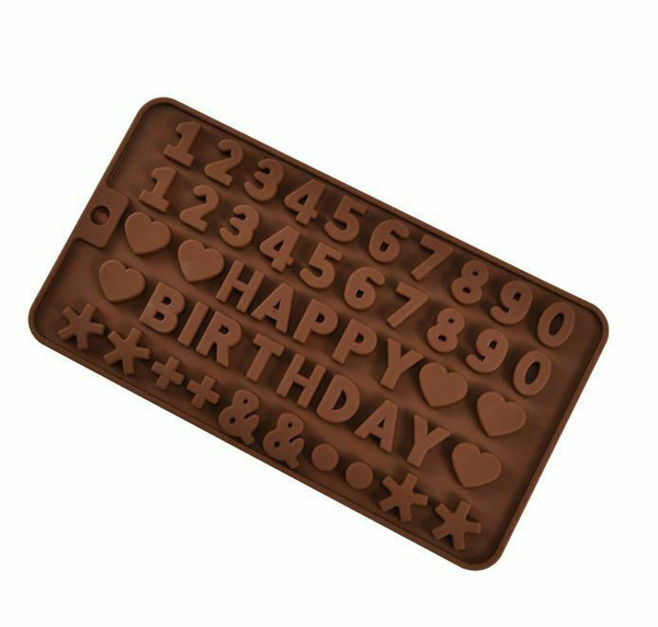 Chocolate Mold - HAPPY BIRTHDAY WITH NUMBERS