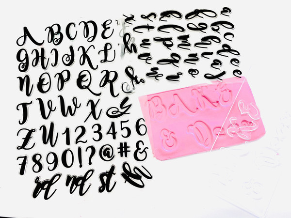 Cookie Stamp / Embosser Set – Script
