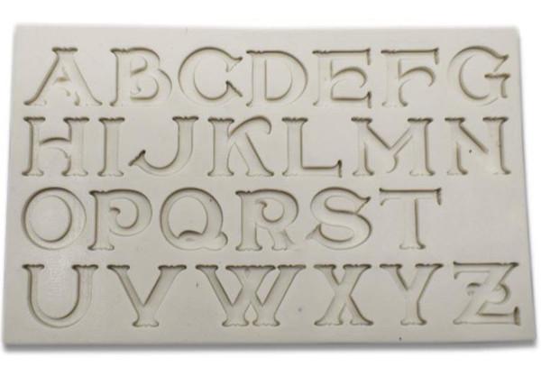 Chic Alphabet Silicone Mold
