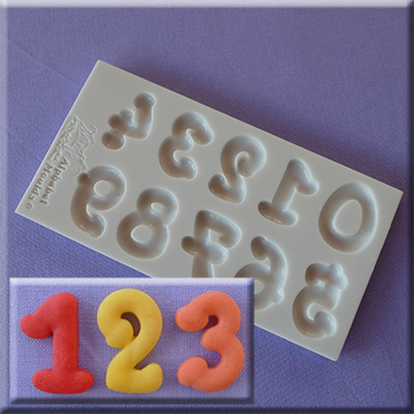 Cartoon Numbers Silicon Mold