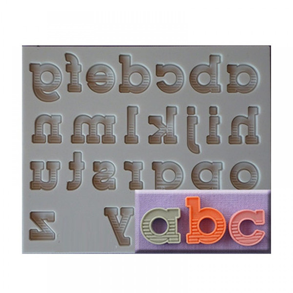 80's Lower Case font Silicone Mold
