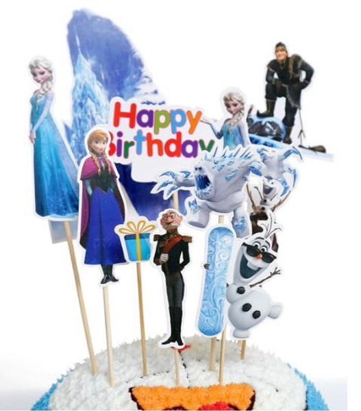 Cake Toppers 10pc - Frozen