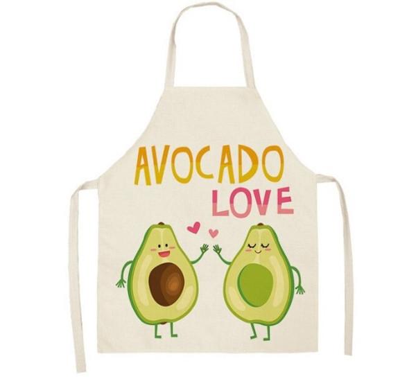 Avocado Love Linen Apron