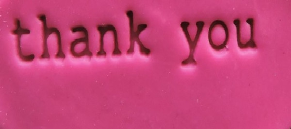 Cookie Embosser - 'thank You '