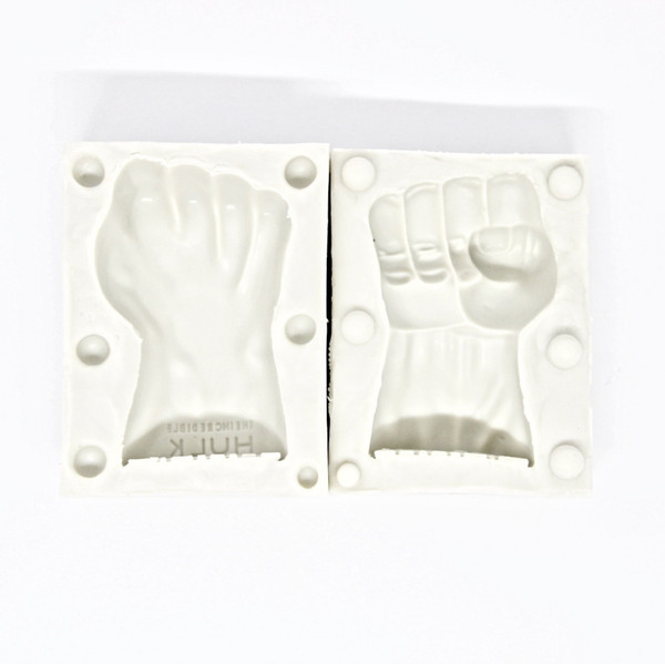 Silicone Mold 2pc- 3D HULK FIST