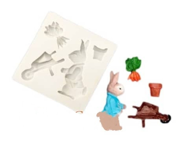 Silicone Mold- Peter Rabbit