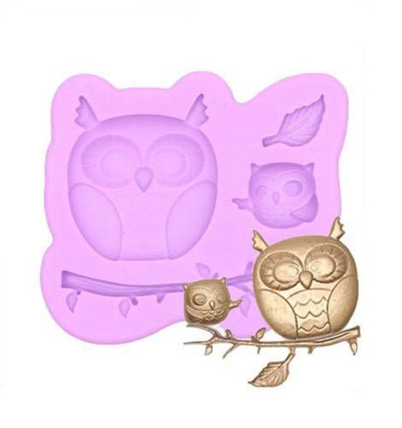 Owl on Brunch Silicone Mold