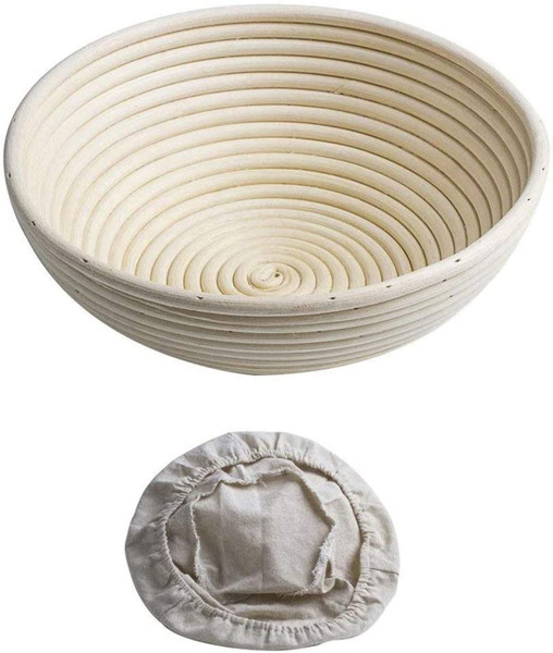 Round Rattan proofing baskets With Liner 20cm