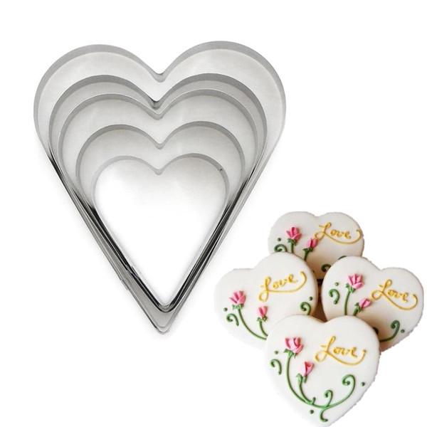 Heart 7pc Tin Plate Cutter