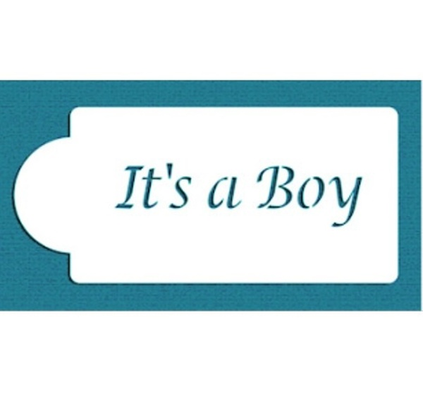 Cake Stencil - 'It's a Boy'