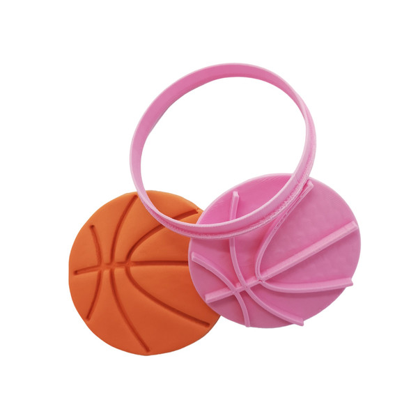 Cookie Cutter and Embosser - Basketball