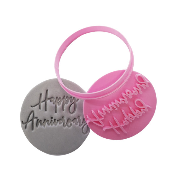 Cookie Cutter and Embosser - Happy Anniversary