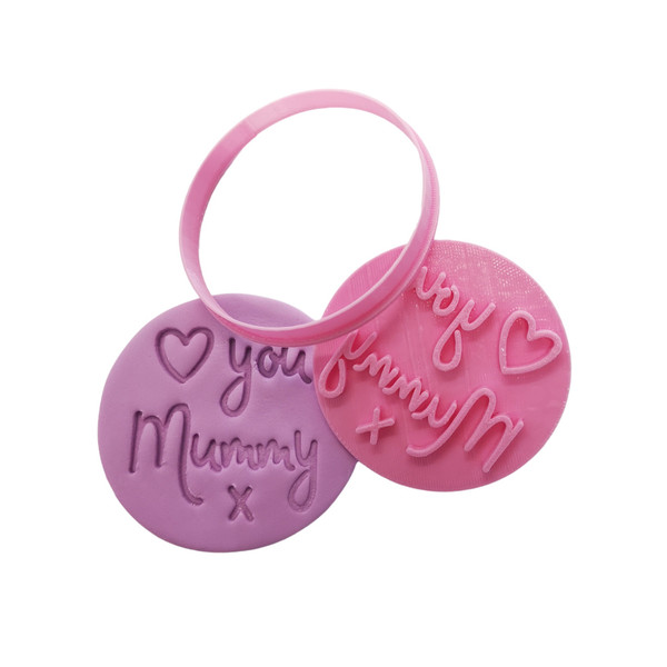 Cookie Cutter and Embosser- Love you Mummy