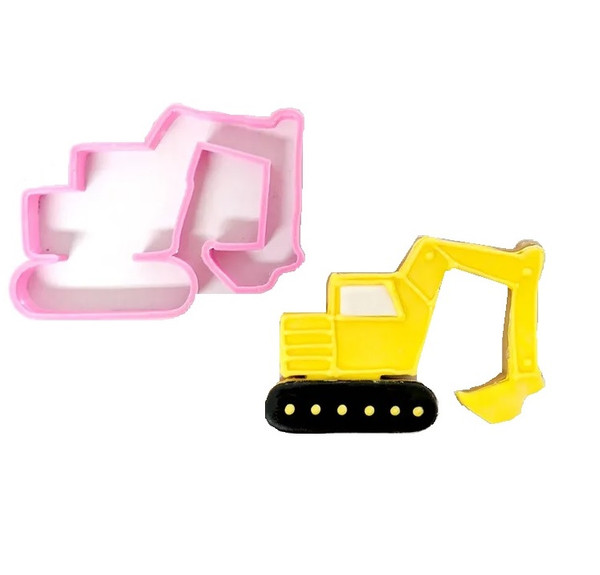 Digger Plastic Cookie Cutter